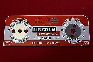Lincoln Arc Welder Control Plate M-10926