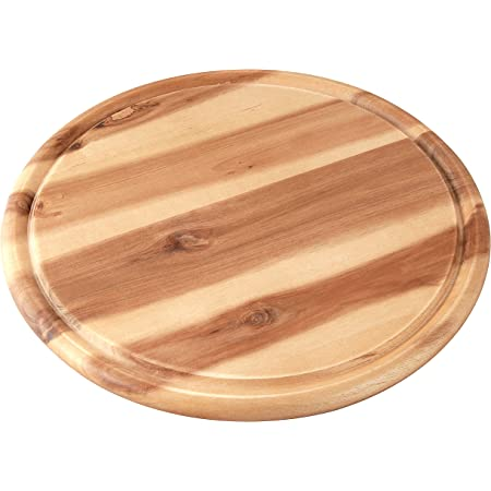 Tagliere per Snack 30x30x3 cm in Frassino Hamburger Tagliere Tagliere in Legno con Manici da Portata