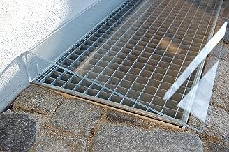 Lichtschachtabdeckung 60x120 Aktion Kellerschachtabdeckung Alu Gewebe Laubschutz