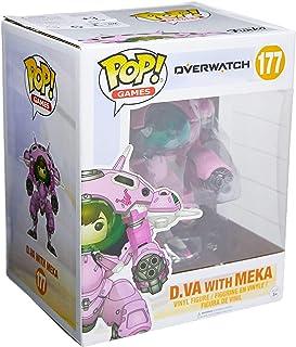 Figuras de juguete Funko POP Games: Overwatch D.VA y Meka de 6 pulgadas POP y Buddy
