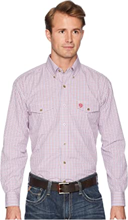 George Strait Long Sleeve Two Flap Pocket Plaid