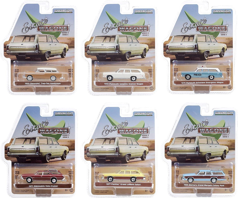 Estate ショップ 店内限界値引き中&セルフラッピング無料 Wagons 6 Piece Set Series 5 by 1 Model Cars Diecast 64 Gr