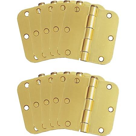 Design House 181404 10-Pack Hinge 3.5 Satin Brass