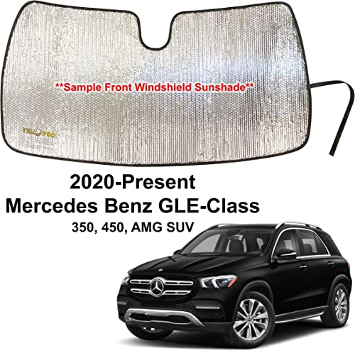 popular YelloPro 2021 Custom Fit Automotive Reflective Front Windshield Sunshade Accessories UV Reflector for 2020 2021 Mercedes-Benz GLE-Class GLE new arrival Class, 350, 450 AMG SUV outlet online sale