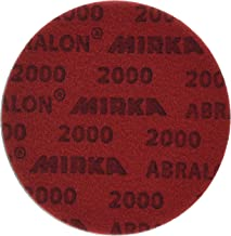 Mirka 8A-241-2000 Abralon 2000 Grit Foam Backed Velcro Hook Polishing & Buffing Discs, 6 Inch, 20 Discs