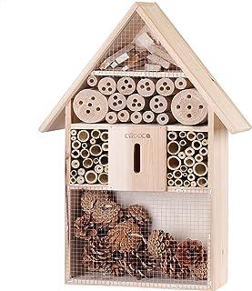 MeiLiu Insect Hotel Bee House 15 x 15 x 9 cm abri Anti-Insectes Salle /à Insectes en Bois adapt/é pour Balcon terrasse Jardin