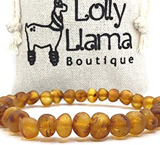 Raw Adult Baltic Amber Bracelet - All Natural Pain Relief for Adults to Help Migraines, Sinus, Arthritis and More! - Cogna...