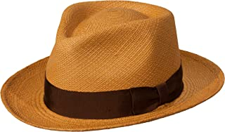 Levine Hat Co. Genuine Panama Bogart Fedora Straw Dress Hat (3+ Colors)