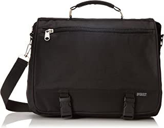 Everest Portfolio Briefcase, Black, One Size