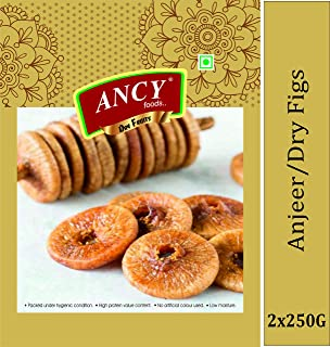 Ancy Foods Pure and Dry Big Size figs (Anjeer) Premium Quality 500gm (Pack of 2x250)