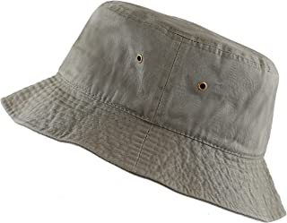 THE HAT DEPOT 300N Unisex 100% Cotton Packable Summer Travel Bucket Hat 7506f03b8ef0