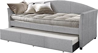 Hillsdale Furniture Hillsadle Westchester Daybed With Trundle, Twin, Smoke Gray Fabric