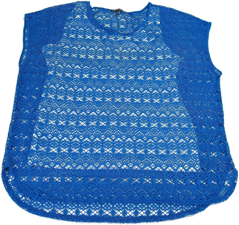 Chaus Sport Ladies Size Medium Lace Blouse Tank cami Shirt Azure Sky