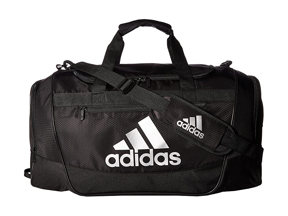 adidas Defender III Medium Duffel (Black/Silver) Bags