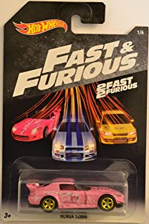 Hot Wheels Honda S2000 Pink #1 Custom-Made with Real Rider Rubber Wheels HW Barbie Fast & Furious Series 1:64 Scale Collectible Die Cast Model Car