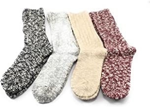 Weatherproof Boot Crew Socks for Womens,Warm,Soft Cotton Blend,Show Size 5-9.5 (4 Pack_