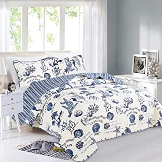 Great Bay Home 3 Piece Quilt Set with Shams. Soft All-Season Microfiber Bedspread..