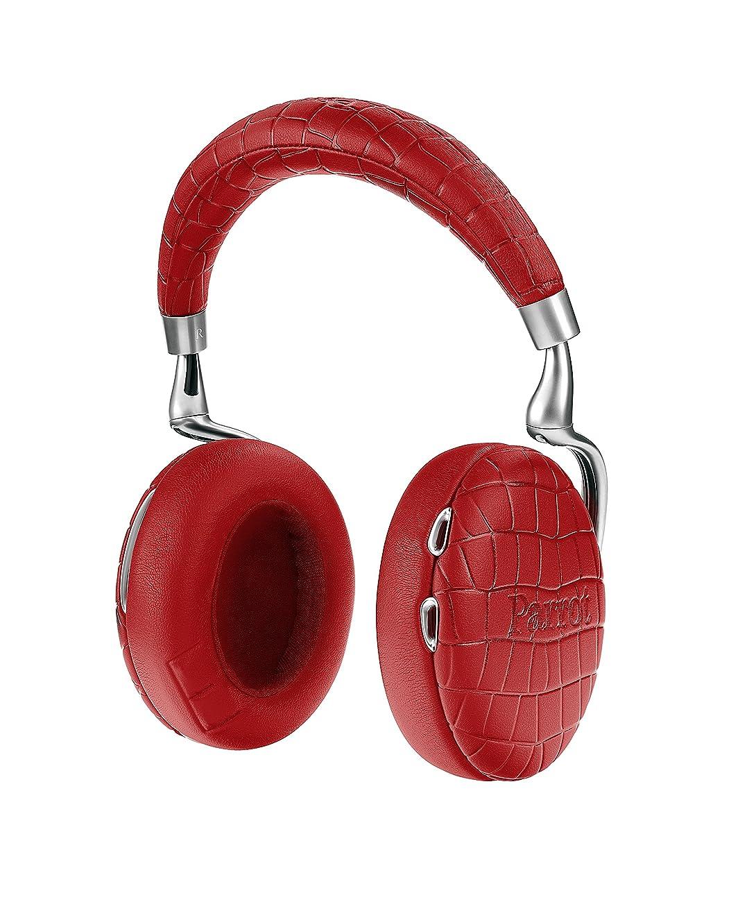 走る感動する勇気のあるParrot Zik 3 密閉型 ワイヤレスヘッドホン ノイズキャンセリング Bluetooth NFC Qiワイヤレス充電 Apple Watch対応 Red Crocodile PF562035 【国内正規品】