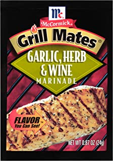 McCormick Grill Mates Garlic, Herb & Wine Marinade Mix, 0.87 oz, Pack of 12