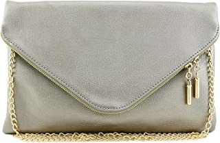 5d24f900a2b Amazon.com  Silvers - Clutches   Clutches   Evening Bags  Clothing ...