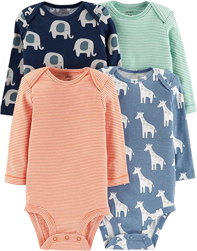 Carter S Unisex Baby 4 Pack Long Sleeve Bodysuits