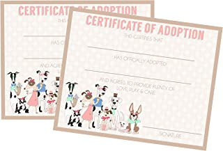 certificate of adoption dog