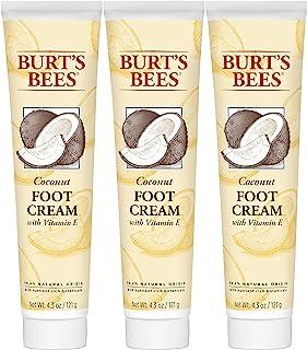 Burt's Bees Coconut Foot Cream, 4.34 Ounces (Pack of 3)