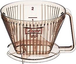 メリタ Melitta コーヒー ドリッパー 日本製 計量スプーン付き 目盛り付き プラスチック製 2~4杯用 ブラウン アロマフィルターシリーズ AF-M1×2