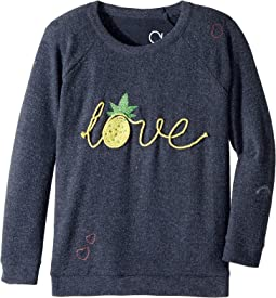 Chaser Kids - Love Knit Raglan Pineapple Love Pullover (Little Kids/Big Kids)