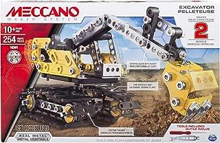 Meccano, 2-in-1 Model Set, Excavator and Bulldozer
