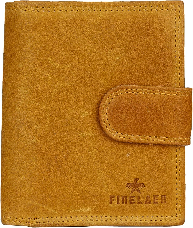 Finelaer Women Mustard Leather Compact Purse Wallet
