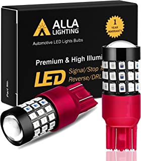 Alla Lighting 7440 7443 LED Brake Stop Tail Lights Bulbs Super Bright T20 Wedge LED 7440 7443 Bulb 39-SMD High Power 2835 Chipsets W21W 7443 7440 Red Brake Tail Light Lamps Replacement for Cars Trucks
