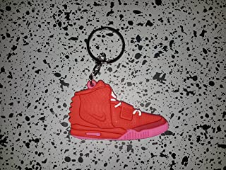 Nike Yeezy 2 Red October Keychain Key Ring II Air Supreme Kanye Jordan B6