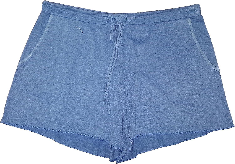 bluee Paradise Knit Sleep Shorts