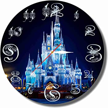 Disney World 11.8'' Handmade Art Wall Clock - Get Unique décor for Home or Office – Best Gift Ideas for Kids, Friends, Parents and Your Soul Mates - Made of Plastic