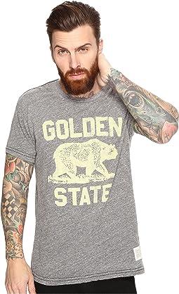 The Original Retro Brand - Golden State Short Sleeve Tri-Blend Tee