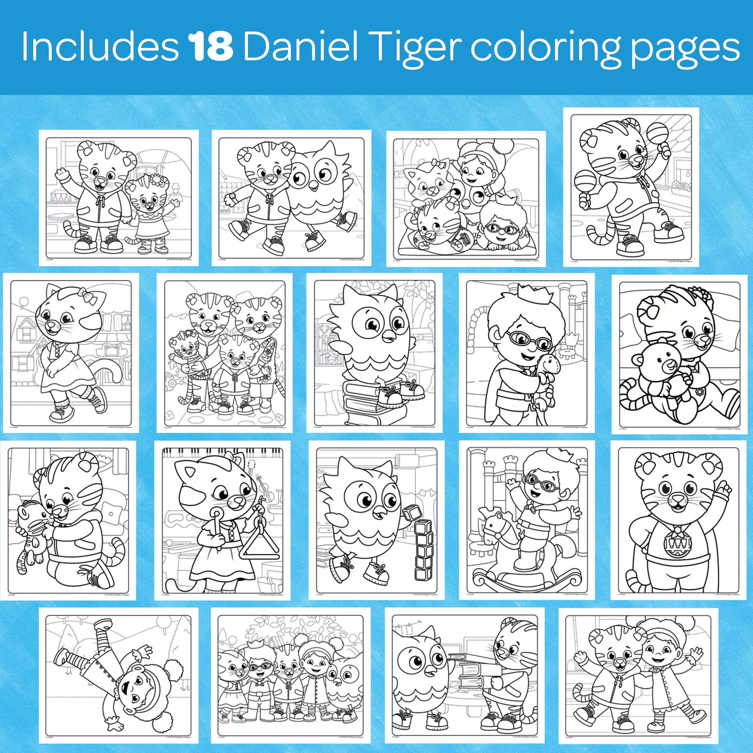 Crayola Color Wonder Daniel Tiger S Neighborhood 18 Mess Free Coloring Pages Gift For Age 3 4 5 6 Buy Online At Best Price In Ksa Souq Is Now Amazon Sa