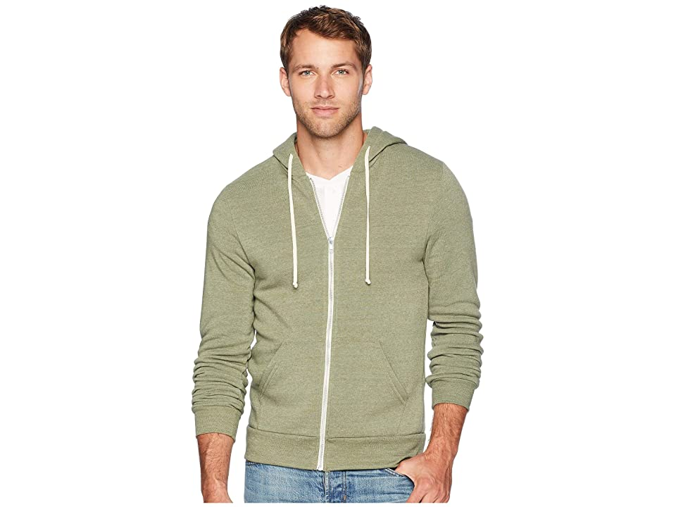 Alternative Rocky Eco-Fleece Zip Hoodie (Eco True Army Green) Men