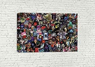 "MASSIVE HORROR MOVIES CANVAS WALL ART (30"" X 18"" / 75 X 45cm)"