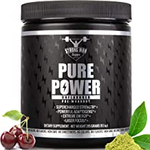 Pre Workout, Best All Natural Keto PreWorkout Supplement. Pure Power, Healthy Pump, Clean, Vegan, Paleo, Thermogenic Pre Work Out Powder for Men & Women, Weight Loss & Energy - 315 g, Unflavored