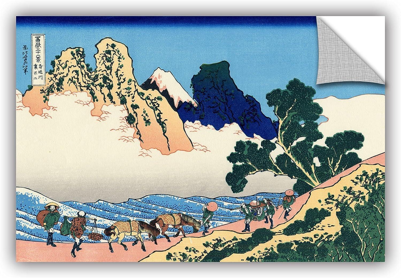 ArtWall Katsushika Hokusai's The Back of The Fuji from The Minobu River  Removable Wall Art, 12-Inchx18-Inch