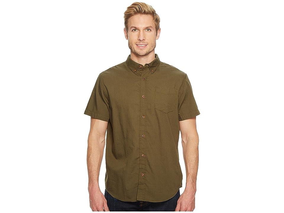 Prana Broderick Standard (Cargo Green) Men's Short Sleeve Button Up