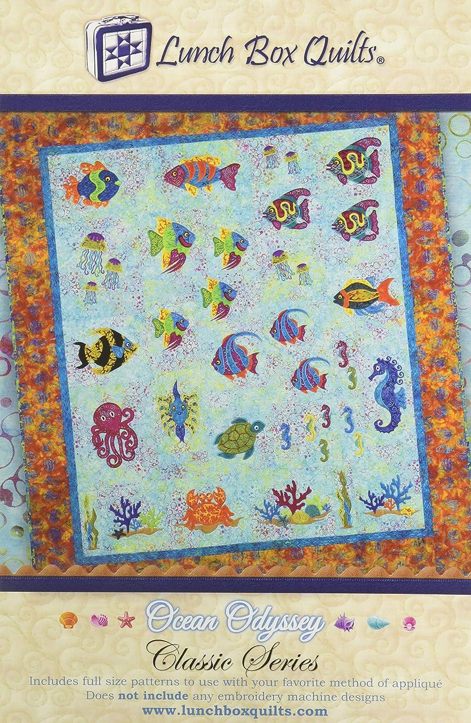 Lunch Box Quilts CQP-OC-1 Classic Series Ocean Odyssey Applique Quilt Pattern