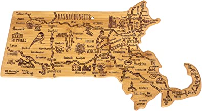 Totally Bamboo Destination Series Massachusetts State Shaped Serving and Cutting Board,..