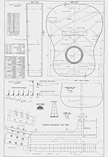 Martin D28 Style - Guitar PLANS to Build - Full Scale acoustic guitar