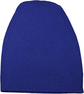 Polo Black Label Ribbed Winter Wool Skull Beanie Cap Hat Italy Blue