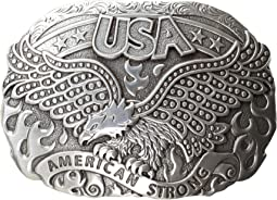 American Strong USA Eagle Oval Buckle