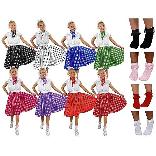 GIRLS FRILLY PINK RED BLACK WHITE BOBBY DOLLY SOCKS ANKLE LENGTH 50s SOCKS 50s
