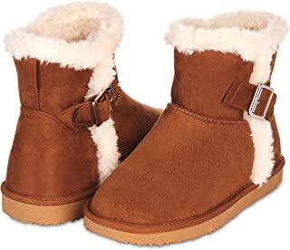 Warm Winter Boots for Women- Classic Mid-Calf Cut, Eco-Friendly Suede Exterior, Faux Fur- Plush Interior- Anti-Skid Flat Sole, Casual Everyday Wear