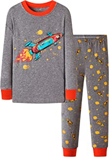DAUGHTER QUEEN Boys Pyjamas Set 1-7 Years Toddler Cotton Nightie Winter Long Sleeve PJs 2 PCS Outfit Gifts for Boys Kids